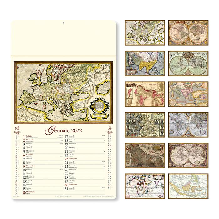 Calendario Antiche Mappe PA012